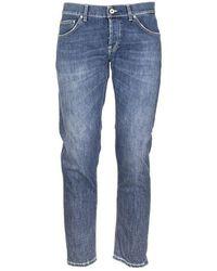 Dondup Mius Slim Jeans - Blauw
