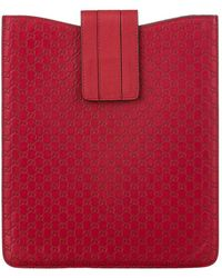 Gucci Leren Tablethoes - Rood