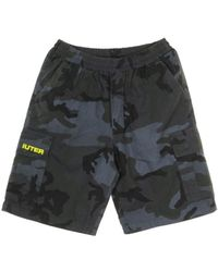 NEED - Pantalone Corto Jogger Cargo Camo Shorts - Lyst