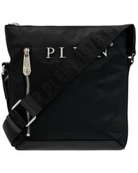 Philipp Plein Shoulder Bag With Logo - Blauw
