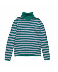 Jucca Striped High Neck Sweater - Vert