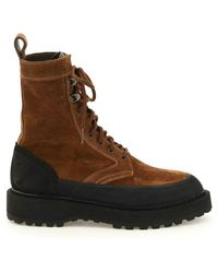 Diemme Altivole Suede Leather Lace-up Boots - Bruin