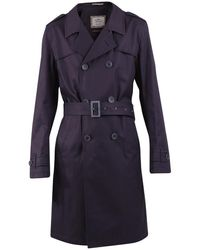 Herno Belted Cotton Trench Coat - Blauw