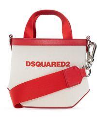 DSquared² Shoulder Bag With Logo - Naturel