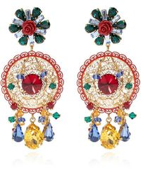 Dolce & Gabbana Drop Clip-on Earrings - Naturel