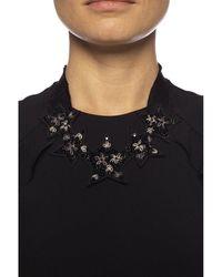 RED Valentino Embellished necklace Negro