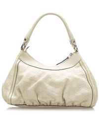 Gucci Guccissima Abbey D-ring Shoulder Bag - Wit