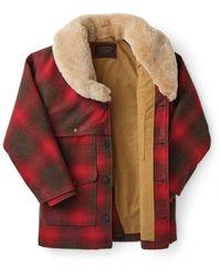 Filson Lined Wool Packer Coat Rojo
