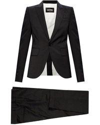 DSquared² Striped suit Negro