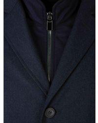 Canali Removable Vest Coat Azul
