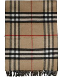 Burberry Reversible Check Cashmere Scarf - Naturel