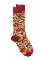 Marni Floral-intarsia Cotton Socks - Bruin