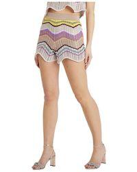 M Missoni Shorts Lavorazione Crochet - Naturel
