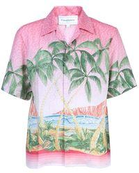CASABLANCA Printed Shirt - Roze