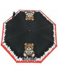 Moschino Ombrello Openclose Puzzle Bear O20mo28 - Zwart