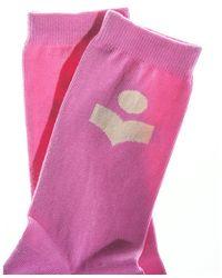 Étoile Isabel Marant Vilykia socks Rosa