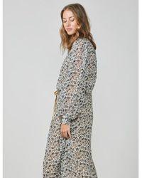 summum woman - Flower Print Dress Multicolour Beige - Lyst