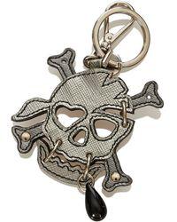Prada - Tweedehands Saffiano Skull-sleutelhanger - Lyst