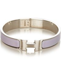 Hermès Clic Clac H Armband Metaal Sv925 - Grijs