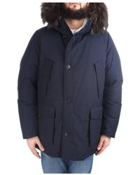 Woolrich Wocps2570 Cn01 Jas - Blauw