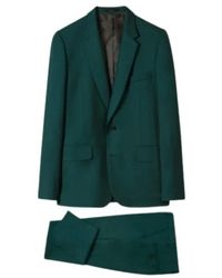 Paul Smith Men's Tailored-fit Wool 'a Suit To Travel In' - Groen