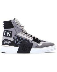 Philipp Plein Phantom Kick$ Sneakers - Grijs