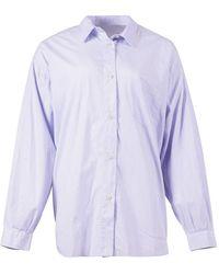 Penn&Ink N.Y Shirt S21w310 Stripe - Blauw