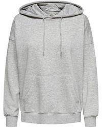 ONLY Onlfeel Life Hood - Grau