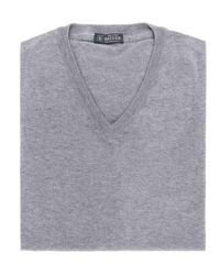 Breuer Jersey cuello pico - Grigio