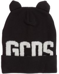 Gcds Men's Wool Beanie Hat Teddy - Zwart