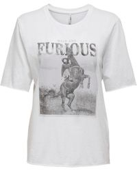 ONLY Camiseta Amelia - Weiß