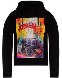 DSquared² D2 Graffiti-hoodie - Zwart