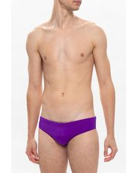 DSquared² Branded swim briefs Morado