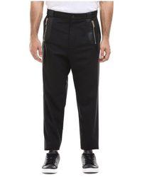 Les Hommes Pantaloni Con Dettagli - Zwart