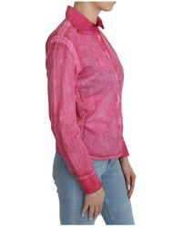 Ermanno Scervino Collared Long Sleeve Shirt Rosa