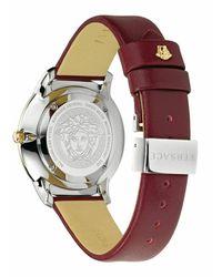 Versace Reloj Audrey con correa en V de segunda mano Morado - Multicolor