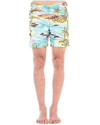 COACH Bermuda Shorts Azul