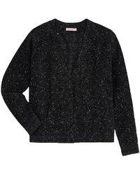 Sun 68 Cardigan sweater with sequins - K40213-11 - Noir