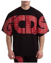 Gcds T-shirt Macro Logo - Noir