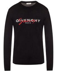 Givenchy Logo Sweater - Zwart