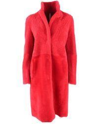 Unfleur Wool Coat - Rosso