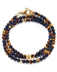 Nialaya De Mykonos Collection - Brown Tiger Eye, Matte Onyx En Goud - Bruin