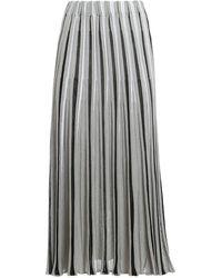 Paolo Fiorillo Capri Lurex pleated midi skirt - Grigio