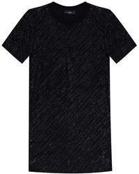 DIESEL T-shirt con logo - Nero