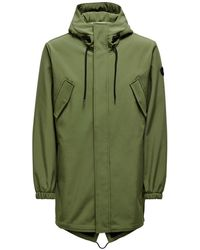 Only & Sons Hall Softshell Parka - Groen