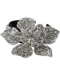 Dolce & Gabbana Bandeau en cristal de diadème - Gris
