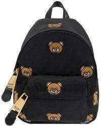 Moschino Micro Backpack With Teddy Bear - Zwart