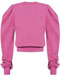 Vivienne Westwood Sweatshirt with logo - Rose