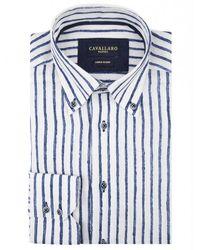 Cavallaro Lino shirt - Blu