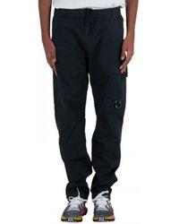 C.P. Company Sateen Garment Dyed Cargo Pants - Nero